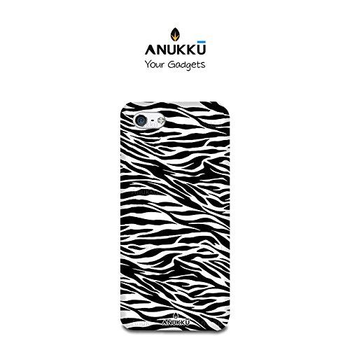 Anukku Custodia Cover Trasparente Ultra Slim Fina in Air Gel 0.3mm Design Zebrato per Apple iPhone 6 - iPhone 6s