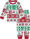 MOMBEBE COSLAND Kid Girls' Christmas Cartoon Pyjamas Pajamas Outfits (5T) Red