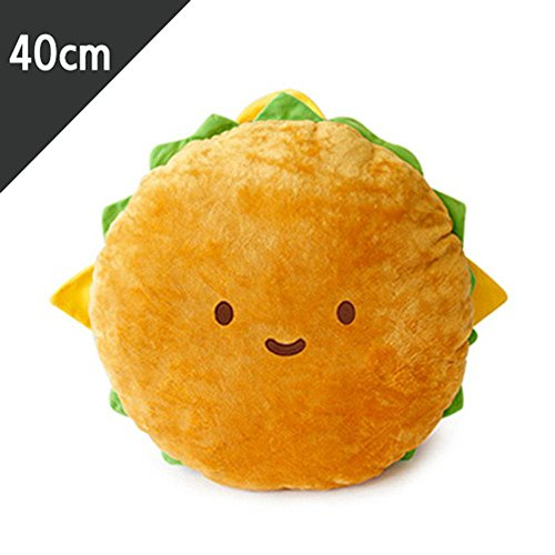 Hamburger Plush Cushion 16' cotton food figure toy doll king burger kawaii cute free shipping