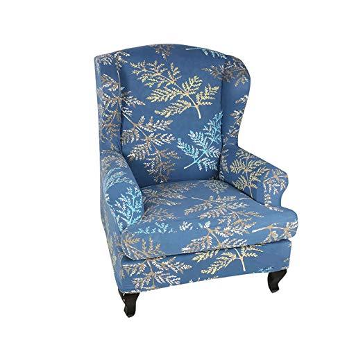 ZHFEL Funda de Sillón Elástica Orejero 2 Piezas,Universal Protector de Muebles duraderas Antideslizante Extraíbles y Lavables Estampada Funda de sillón para Sala de Estar-D