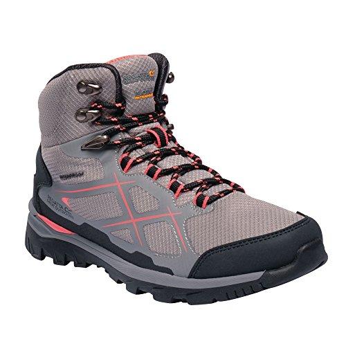 Regatta Damen Lady Kota Mid Rise Hiking Boot Trekking- & Wanderstiefel, Grau (Rock Grey/Neon Peach 335), 36 EU