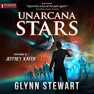 UnArcana Stars     A Starship's Mage Story              By:                                                                                                                                 Glynn Stewart                               Narrated by:                                                                                                                                 Jeffrey Kafer                      Length: 8 hrs and 55 mins     173 ratings     Overall 4.7