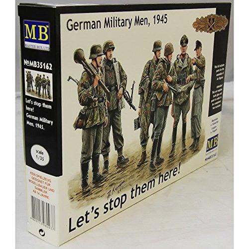 Masterbox Figurine « Soldats allemands 1945 Lets Stop Them Here! » à l'échelle 1/35.