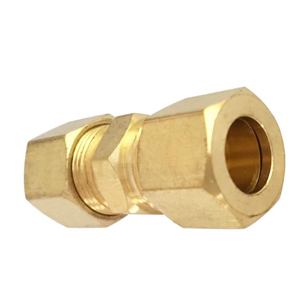 5pcs Union 5//8 OD x 5//8 OD Brass Compression Tube Fitting