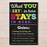 AprilLove What You Say in Here Poster, Counselor Office Decor, Therapist Office, Counseling Office Confidentiality Poster, Counselor Gift, Social Worker Sign