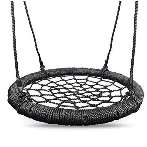 Balançoires YXX Nid D'oiseau Jardin Rond 40 Pouces d'arbre en Toile d'araignée pour Enfants et Adultes, Chaises d'oscillation réglables extérieures de hamac avec Le Cadre en Acier et la capa