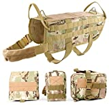 JASGOOD Tactical Dog Vest Harness Handle Training Dog Vest with Detachable Molle Pouches,L,2 Camo