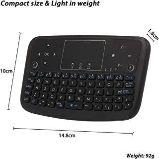 Calvas A36 2.4GHz Air Mouse Mini Wireless Keyboard Touchpad Keyboard Remote Control For Android TV Box Smart TV PC PS3 Rechargeable