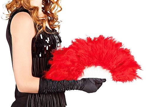 Verenventilator - synthetisch - rood - burlesk - vrouw - carnaval - origineel idee voor een verjaardagscadeau voor kerstmis