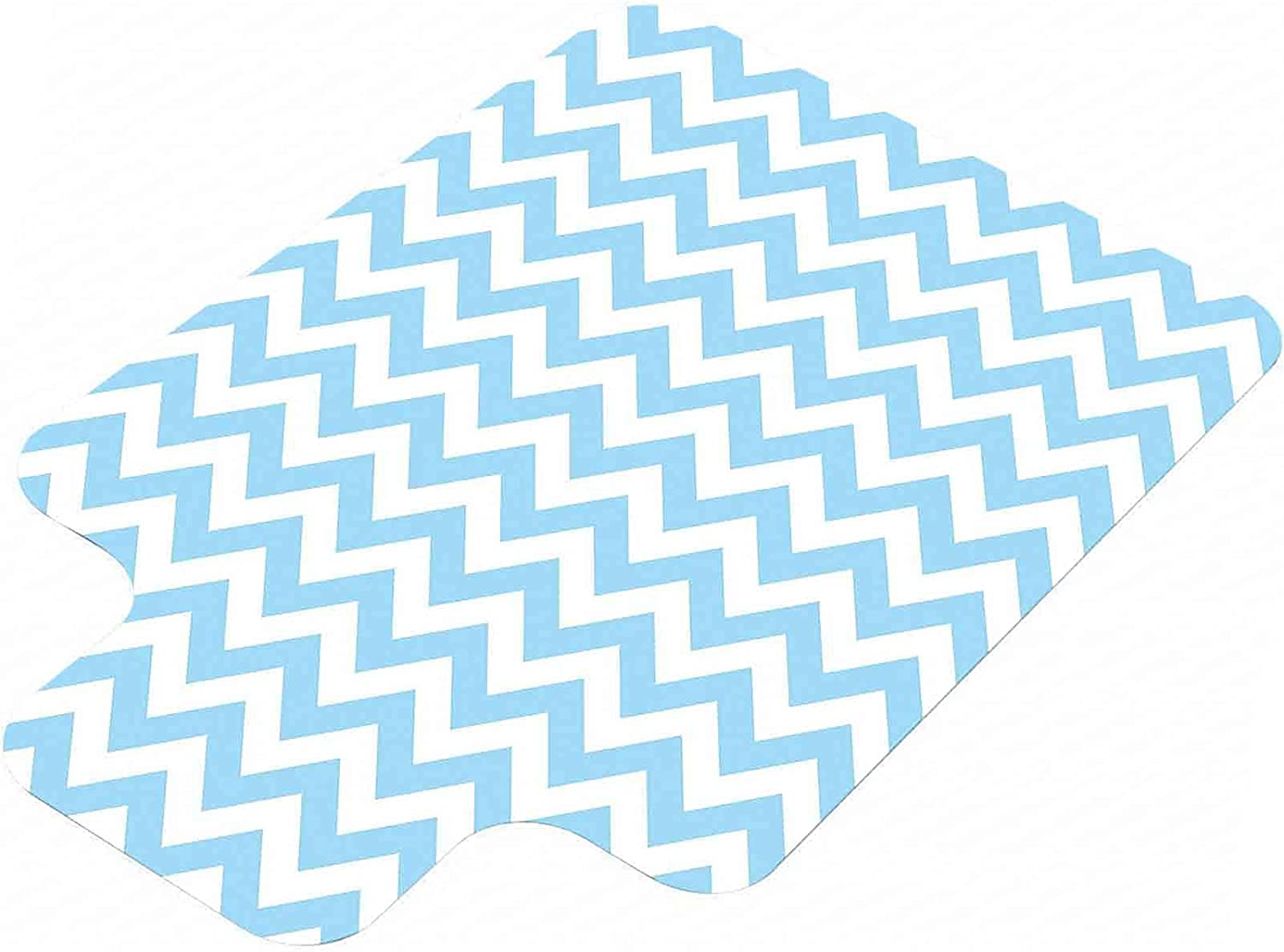 Blue Selling Hard Floor Chair Mat Classical Max 71% OFF wit Zag Zig Pattern Chevron