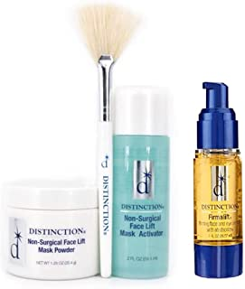 Distinction Non Surgical Face Lift Kit | Lifts, Tightens, Tones | Includes Firmalift Face and Eye Serum, Mask Powder, Mask Activator, and Brush