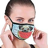 CZLXD Mascarilla Antipolvo para Perros interesantes Comer sandías, máscara Antipolvo, máscara de Boca anticontaminación para Hombre y Mujer