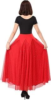 Ballroom Dresses for Women Manica Lunga Fodera Abito Danza Modern