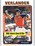 2005 Topps Update #220 Justin Verlander FUT - Detroit Tigers (Prospect / Rookie) (Baseball Cards). rookie card picture