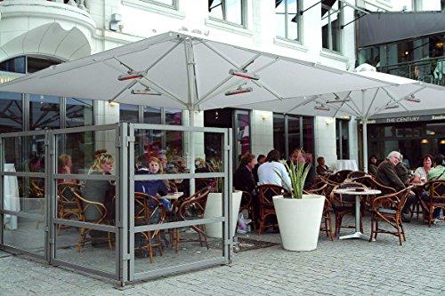 Infrarot-Heizstrahler 1.500 Watt – TERM2000 IP67 – wasserdicht für Terrasse, Balkon oder Gastronomie - 4
