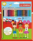 Matita colorata - STABILO color - Astuccio da 24 - Colori assortiti