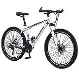 DEESEE(TM) Mountain Blike, 26 Inch 21Speed Carbon Steel Full Mountain Bike, Exercise Bike for...