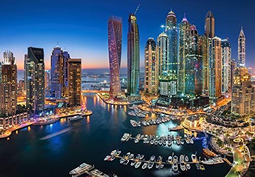 Castorland Hobby Panoramic Grattacieli Di Dubai Jigsaw Puzzle, 1500 Pezzi Set, Multicolore, 151813-2