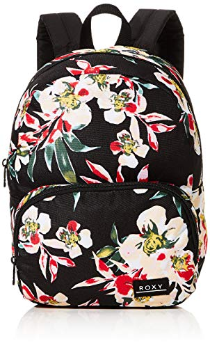 Roxy Always Core, Mochila. para Mujer, Color gris antracita Wonder Garden S, Medium