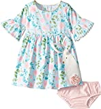 Mud Pie Baby Girl's Bunny Dress (Infant/Toddler) Blue 6-9 Months