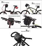 rhinowalk Bike Lenkertasche wasserdicht Stoff Hohe Kapazität 2in 1Front Pack für Falt Tasche Road Bike, mattes schwarz - 8