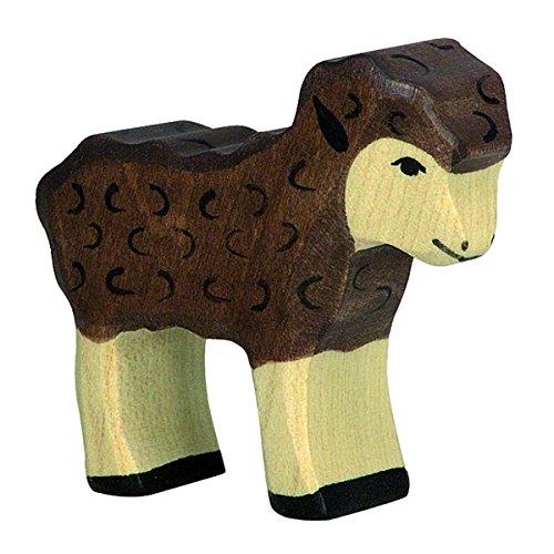 Holztiger Lamm, schwarz, 80078