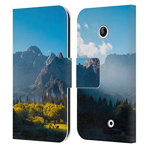 Head Case Designs Licenza Ufficiale Patrik Lovrin Sole Che sorge sui Cavalli Alba Magica Cover in Pelle a Portafoglio Compatibile con Nokia Lumia 630