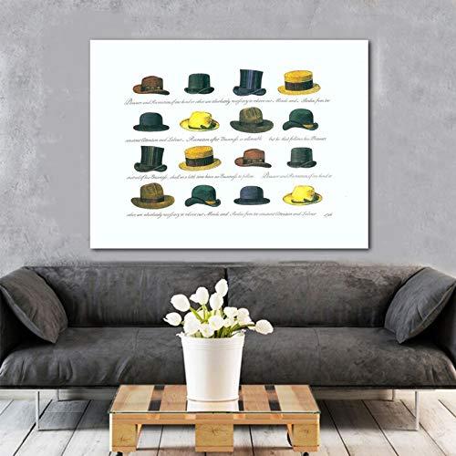YuanMinglu Kunst Cartoon Tube Cap Bild Dekoration Malerei Wand Leinwand Malerei Wohnzimmer Büro Home Dekoration rahmenlose Malerei 40X50cm