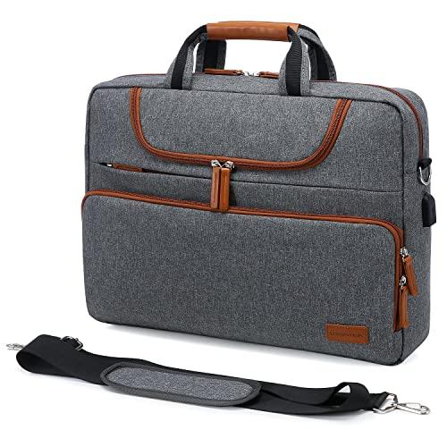 LOVEVOOK Laptoptasche 17 Zoll -17.3 Zoll Wasserdichte Laptop Tasche Aktentasche Herren für Macbook/Lenovo/HP/ASUS/Dell/Acer, Notebooktasche für Business/Reisen/Arbeit