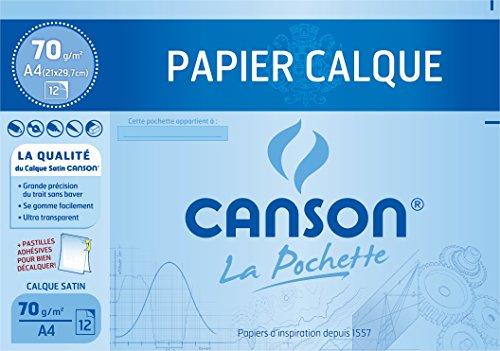 CANSON 200006565 tekenpapier, gesatineerd, DIN A4, 70 g/m2