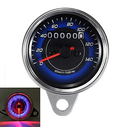 NICERE 12 V tres luces de fondo LED motocicleta odómetro KMH velocímetro indicador universal motocicleta engranaje indicatorgear