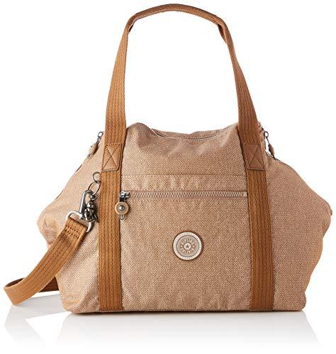 Kipling Bolso de mano para mujer, diseño de lunares, color beige, talla...