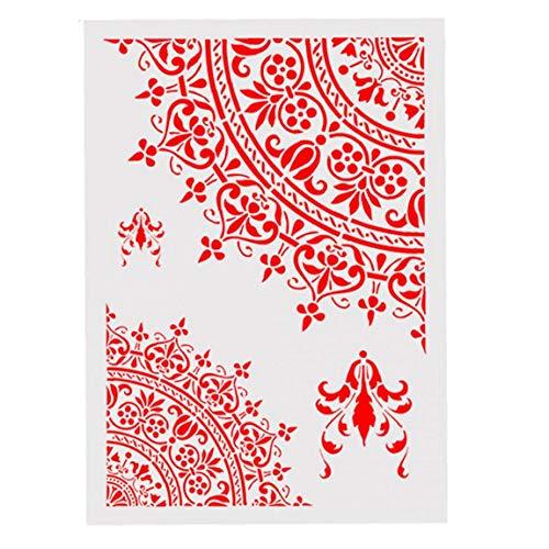 Kacniohen Pintura Plantilla de la Plantilla de la Plantilla de Flores Hueco marroquí Muro de la Plantilla A4 Bricolaje Art Projects Boda Decoración para el Hogar