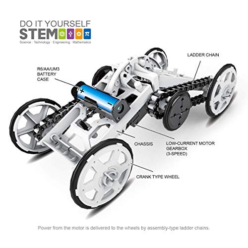 STEM 4WD Car DIY Climbing Vehicle Motor Car Educational Engineering Car for...