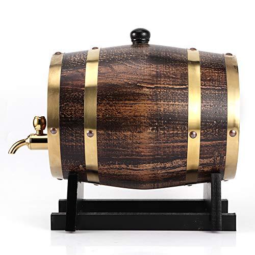 hong Weinfass, 3L Retro Style Eichenholz Rotwein Brandy Whisky Fass Fass Eimer Behälter Mit Wasserhahn Für Zuhause, Café, Teehaus, Restaurant Langlebig