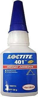 Loctite 401 Super Lijm - Instant Lijm - 20G - Plakt metaal, rubber, keramiek algemeen doel. Lage viscositeit. Ideaal voor ...