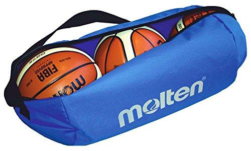MOLTEN Profesional Bolsa de 3 Balones de Baloncesto, Unisex, Azul, Talla Única