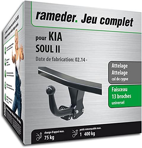Rameder Pack, attelage démontable avec Outil + Faisceau 13 Broches Compatible avec KIA Soul II (161108-12796-1-FR).