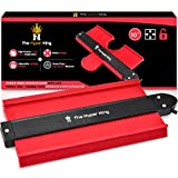 The Hyper King Contour Gauge with Lock 10 inch, Profile Gauge Tool for Precise Shape Duplication, Super Gauge, Instant Template, Laminate Flooring, Tiling,Woodworking Tool