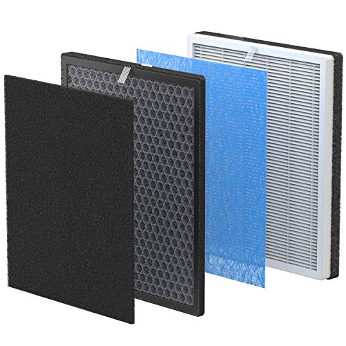 RENPHO Air Purifier Replacement Filter Set for Models RP-AP001/ RP-AP001S/ RP-AP002, 1x Charcoal Filter,1x Activated Carbon Filter and 1x True HEPA Filter