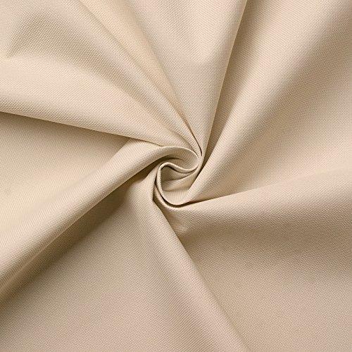 aktivstoffe Carry - Lona de tela impermeable - 100% poliéster - 21 colores - Por metro (crema)