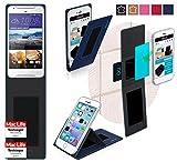 Hülle für HTC Desire 628 Tasche Cover Hülle Bumper | Blau | Testsieger