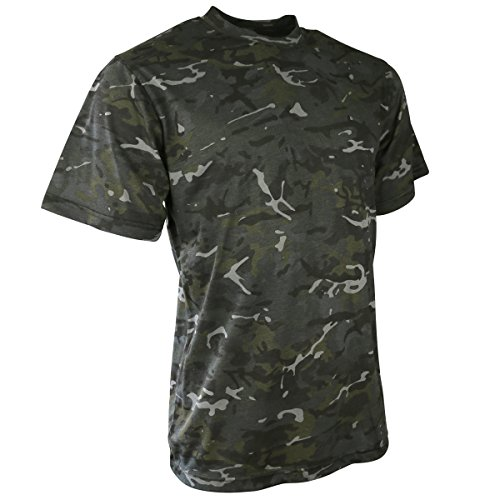 Kombat UK pour Homme Adulte, Camouflage, t-Shirts XL BTP Black