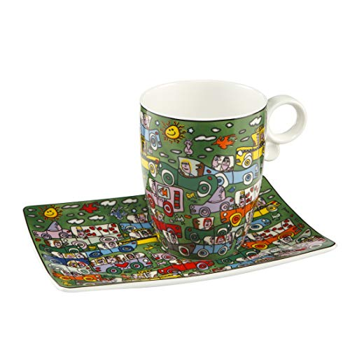 Goebel Crosstown Traffic - Künstlerbecher Pop Art James Rizzi Bunt Fine Bone China 26102211