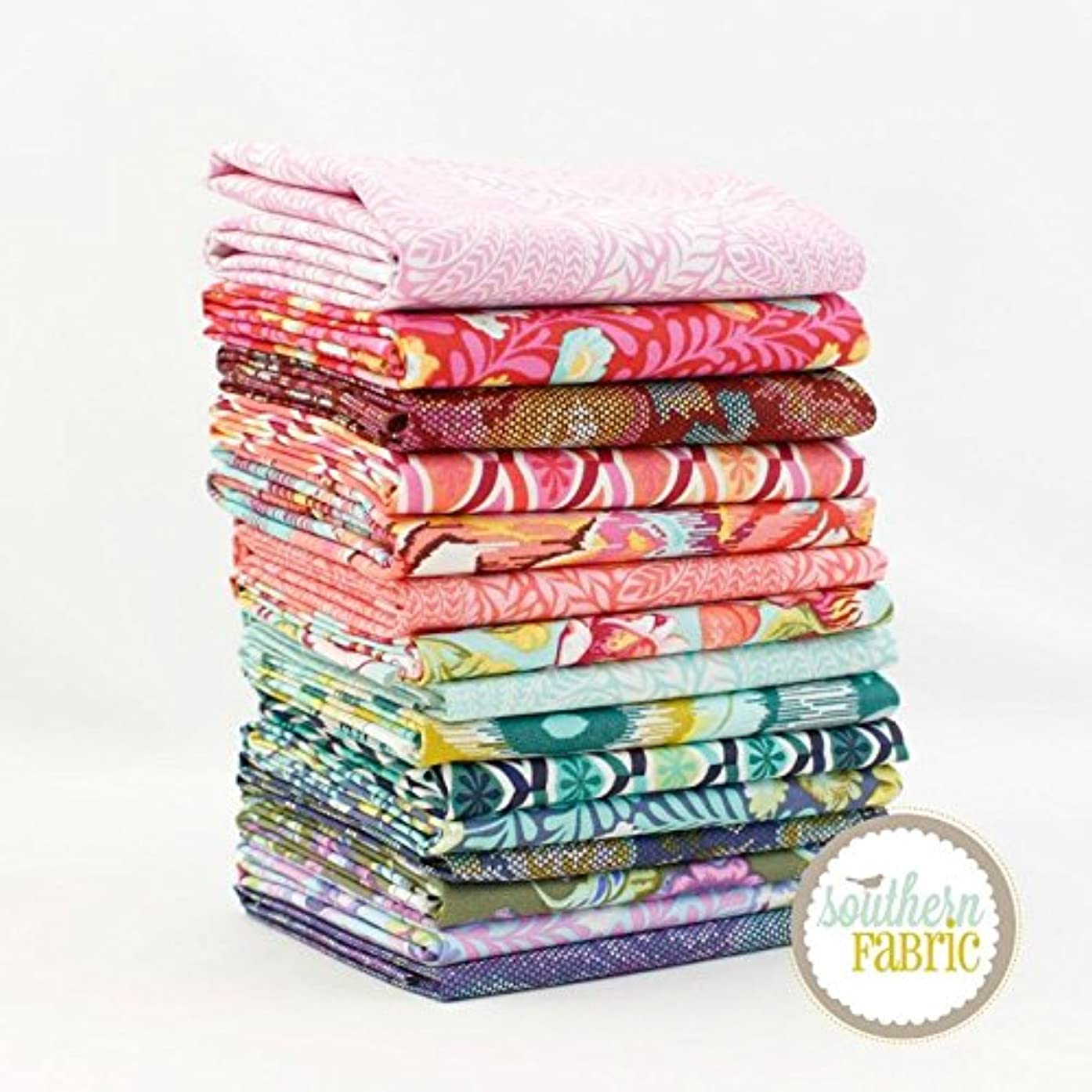 Eden Fat Quarter Bundle (15 pcs) - Tula Pink - Free Spirit 18 x 21 inches (45.72cm x 53.34cm) fabric cuts DIY quilt fabric