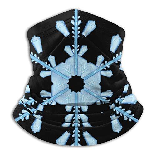 Snowflakes Unisex Mikrofaser Halswärmer Winddicht Staubdicht UV-Schutz Halstuch Schal Schwarz