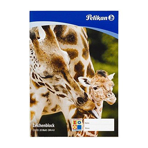 Pelikan 224840 - Zeichenblock A3 20 Blatt 100gr, 1 Stück, mehrfach sortiert