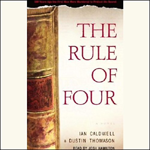 The Rule of Four audiobook cover art