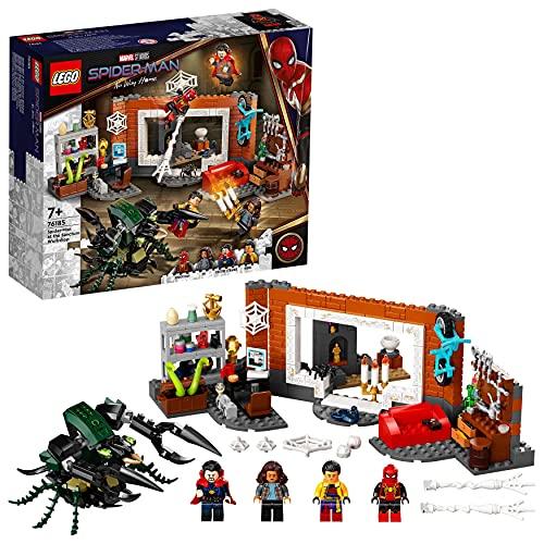 LEGO Marvel Spider-Man al laboratorio Sanctum, Giocattoli Bambini 7 Anni e Più, Minifigure Dr. Strange e Mostro Insetto, 76185