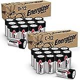 Energizer MAX C Batteries & D Batteries Combo Pack, 12 C and 12 D Batteries (24 Count)
